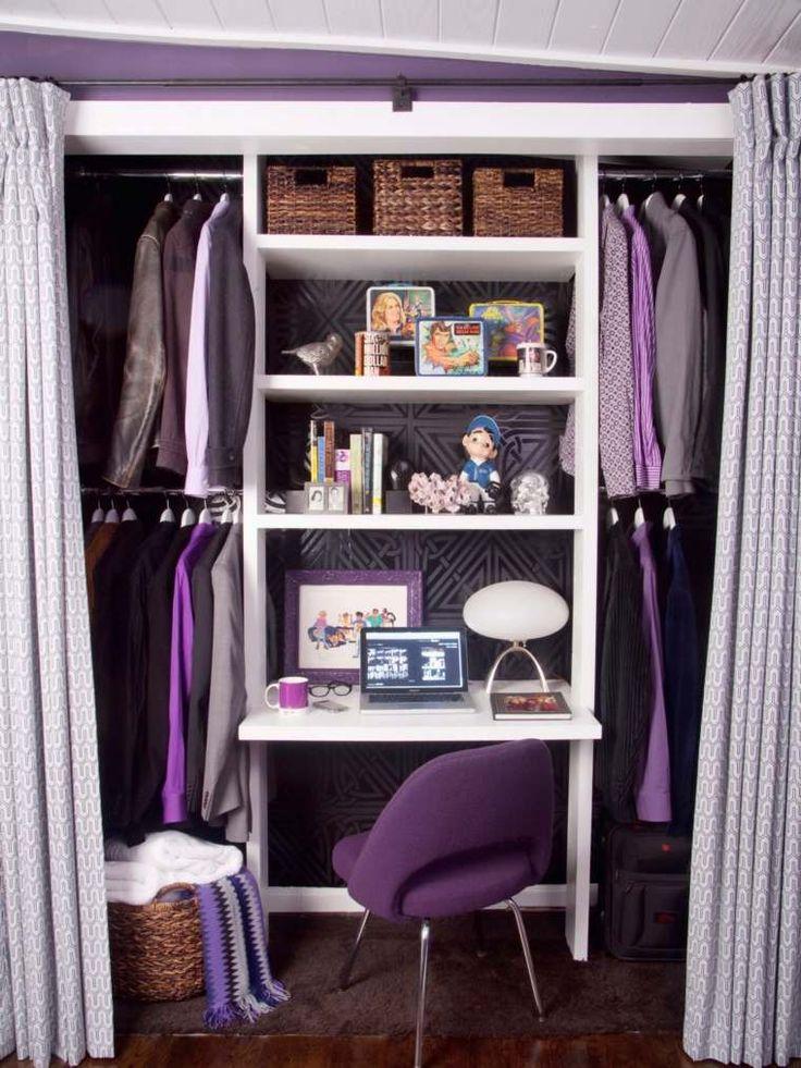 1000 id es propos de dressing avec rideau sur pinterest meuble penderie rideau chambre et - Coin bureau ontwerp ...