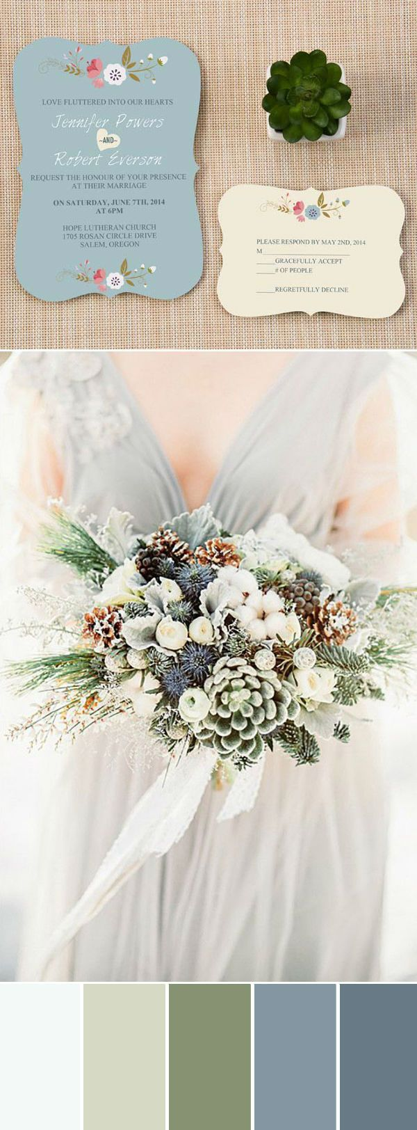 elegant neutral wedding bouquets and invitations