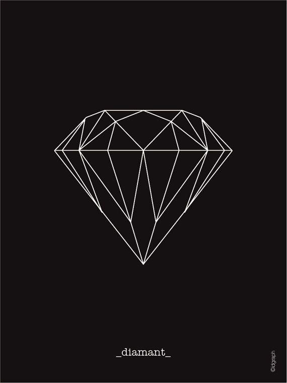 Articles similaires à Illustration graphique diamant collection origami à imprimer sur Etsy