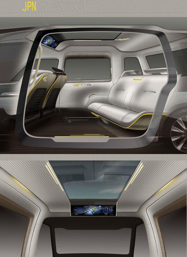 Toyota JPN Taxi Concept - Interior Design Sketches - Car Body Design