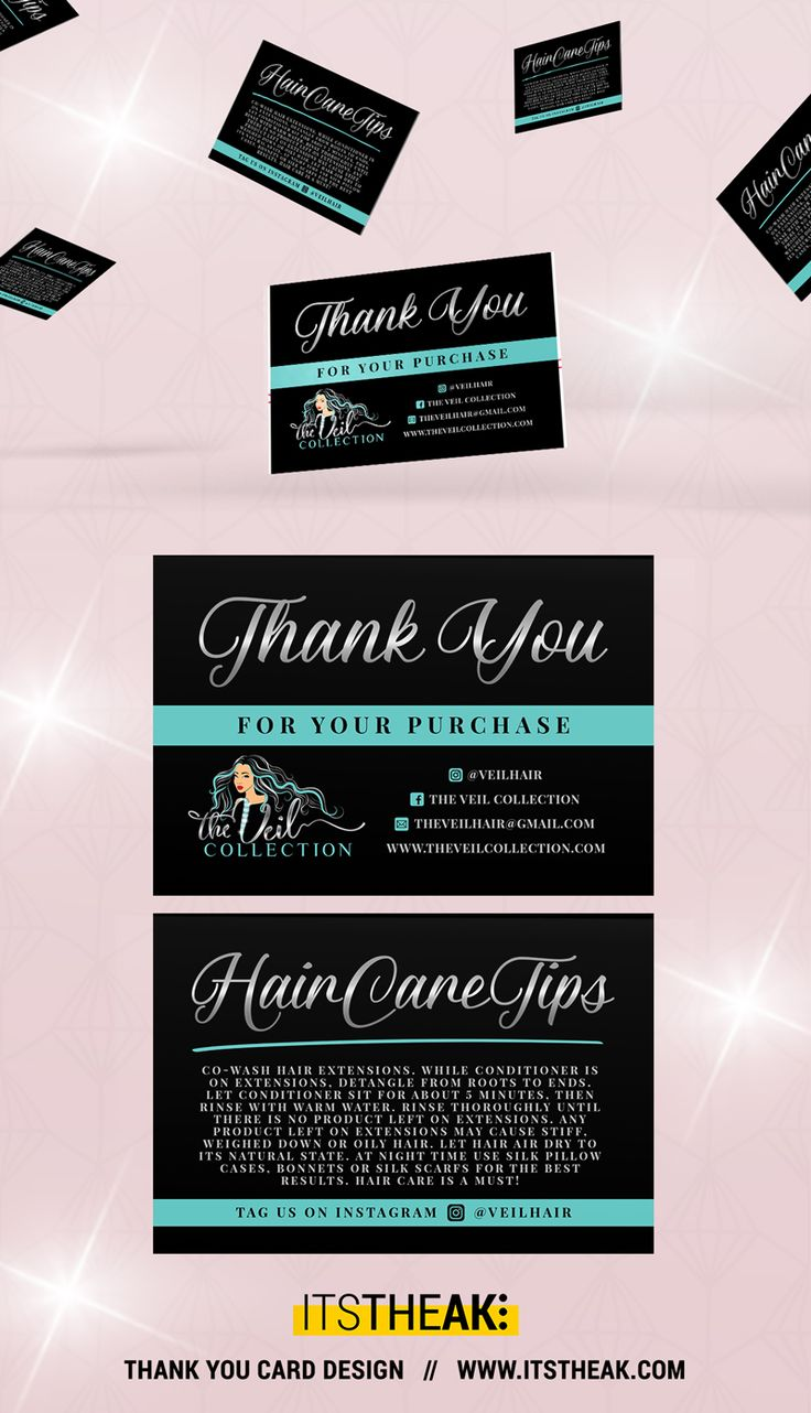 Thank You For Your Purchase // Thank You Cards // Hair