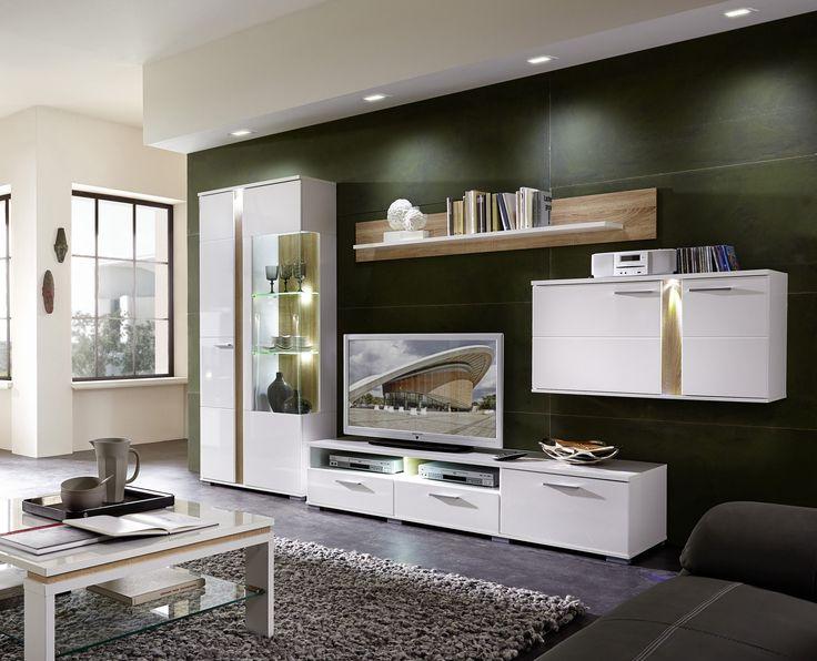 die besten 25 wohnwand weiss ideen auf pinterest. Black Bedroom Furniture Sets. Home Design Ideas