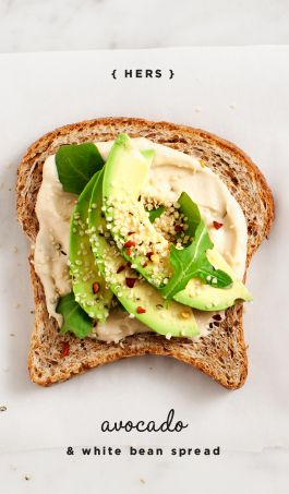 White Bean Spread: slather on bread with sliced avocado for a quick lunch (vegan).