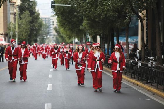 Visit Greece | 4th Santa Run 2017. #Greece #visitgreece #events #running #run