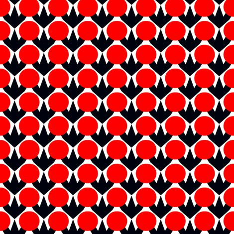 Polanen Red Dots fabric by stoflab on Spoonflower
