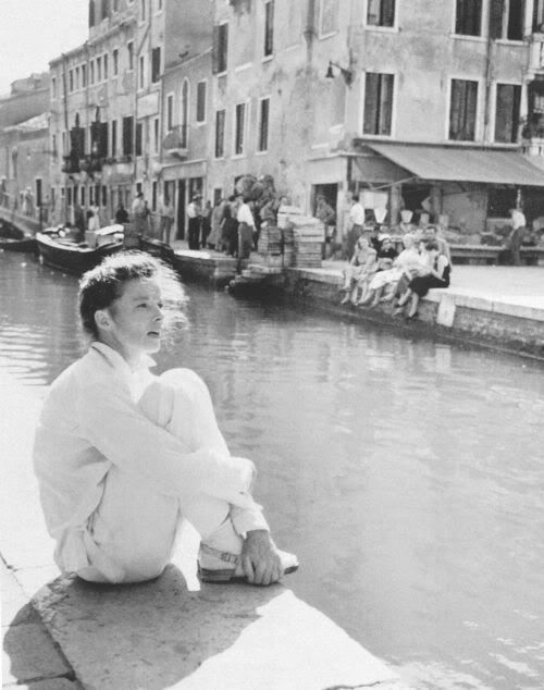 """Katharine Hepburn, in """"Summertime,"""" filmed in Venice in 1955. For some reason this film is close to my heart."""