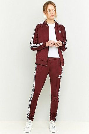 Image result for burgundy adidas tracksuit  51cd844a5c9f