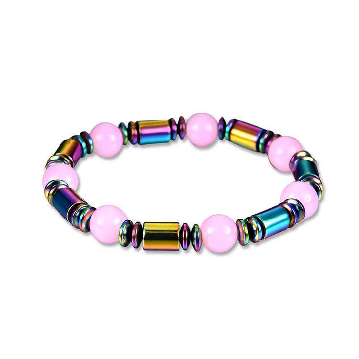 Colorful Magnetic Artificial Hematite Bead Therapy Healthy Women's Bracelet Braccialetto Armband Pulsera Mujer Hand Wrist Joyas #Affiliate