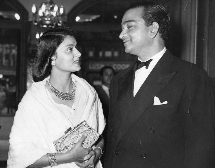 Mh. Gayatri Devi and Her husband Maharajah of Jaipur