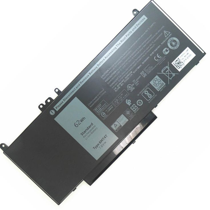 62Wh 7.6V(compatible with 7.4V) 6MT4T Li-ion Laptop battery is made from the highest quality cells and parts. The 6MT4T is designed to meet or exceed original equipment specifications. Shopping with us is safe and secure! 100% Guarantee Quality and Fully Test! Pack forDell Latitude E5450 E5550 E5570 Notebook 15.6