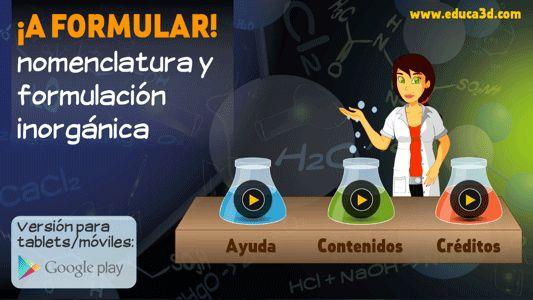 educa3D | Formulacion inorganica