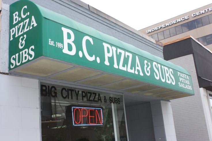 Casual restaurant serving pizza calzones and sandwiches like Philly cheese ham and cheese turkey Italian veggie meatball chicken parmesan and grilled chicken sandwich. Delivery $1.99 to zone 1 and services nearby college campuses. Open for lunch and dinner. Campus Specials.