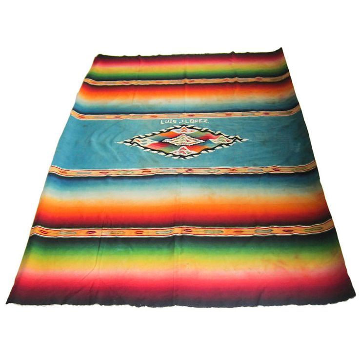 Post Classic Serape de Saltillo | From a unique collection of antique and modern textiles and quilts at https://www.1stdibs.com/furniture/more-furniture-collectibles/textiles-quilts/