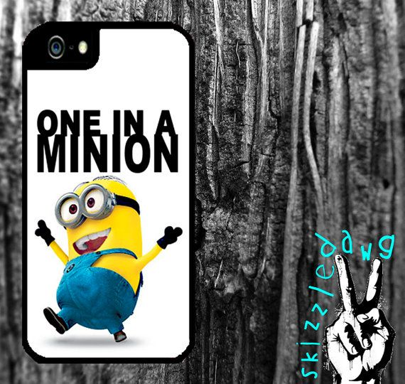 Despicable Me One In A Minion Quote Apple iPhone 4/4S and 5 Durable Protective Cell Phone Case Cover Original Trendy Stylish Design