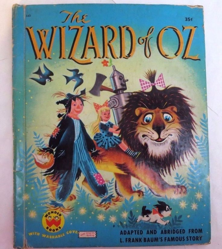 The Wizard of Oz Vintage Wonder Book 1951 Adapted and Abridged Ill T. Sinnickson