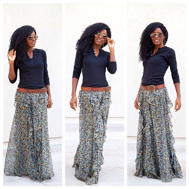 42 best Maxi Skirts images on Pinterest | Long skirts, Clothes and ...