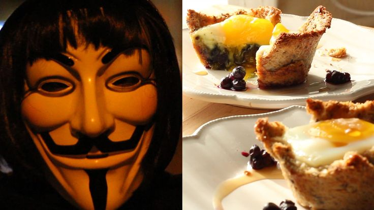 Check out V for Vendetta | Inspired Recipe for Eggie in a Basket on Feeling Peckish