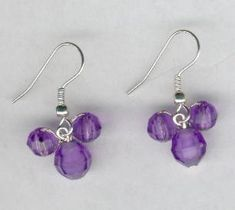 Purple Hidden Mickey Mouse Beaded Earrings by FoxyMomma on Etsy, $10.00