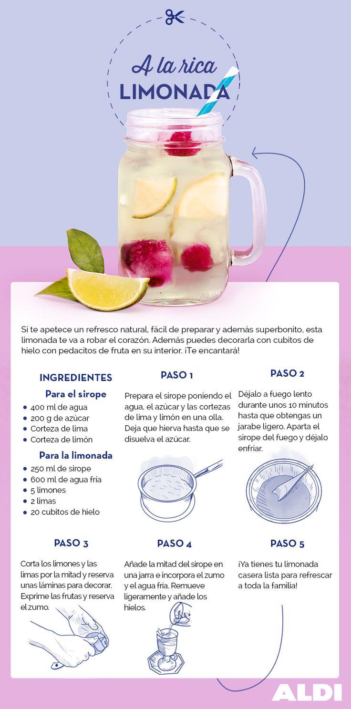 Preparar una rica limonada casera es sencillo, y lo que es mejor, tendrás una bebida muuuuy refrescante en cuestión de minutos. ¡Apúntate esta receta!