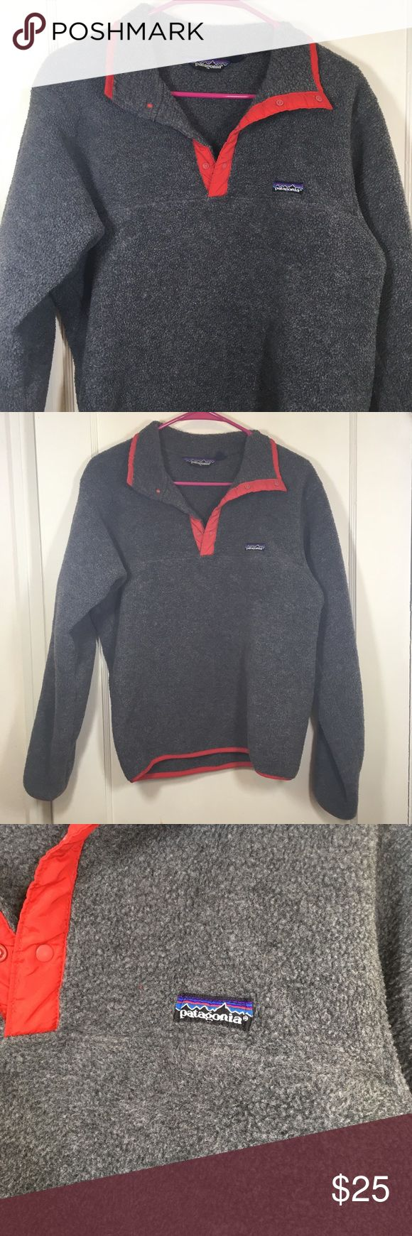 Patagonia fleece pullover jacket size medium Patagonia fleece pullover jacket size medium. Please see measurements. Arm pit to pit measures approximately 20 inches. Total length measures approximately 24 inches Patagonia Jackets & Coats