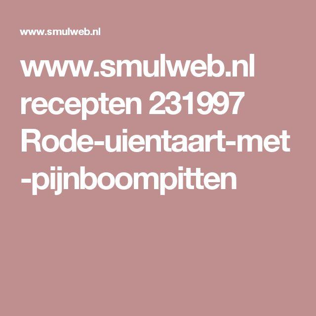 www.smulweb.nl recepten 231997 Rode-uientaart-met-pijnboompitten