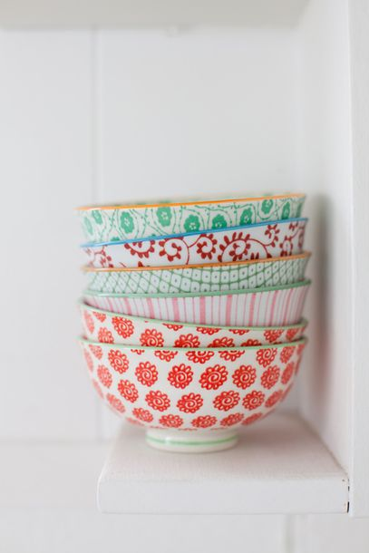 $45 Cute Set Of Small Home Bowls Crockery Home Decor Home Accessory Multicoloured Spring Summer Coloured Printed Patterned Bowls