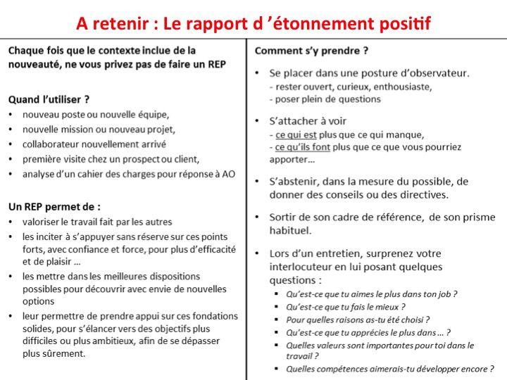 Rapport D Etonnement Positif Rapport Positif Organisation Du Travail
