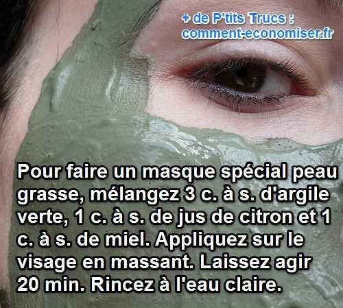 Connaissez-vous la recette de masque spécial peau grasse fait maison et naturel ? Découvrez l'astuce ici : http://www.comment-economiser.fr/masque-pour-peau-grasse-fait-maison.html?utm_content=buffer39faf&utm_medium=social&utm_source=pinterest.com&utm_campaign=buffer