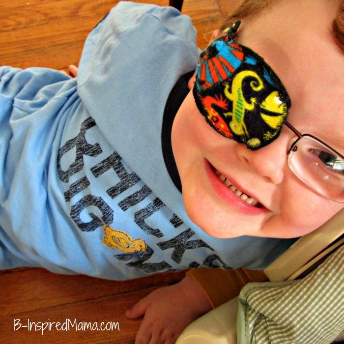 """Does your child have Amblyopia or """"Lazy Eye?"""" Find out more about it and see how to make fun eye patches for kids at B-Inspired Mama."""