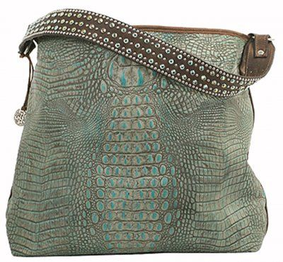 Turquoise Gator Big Tote - BT69 Double J saddlery