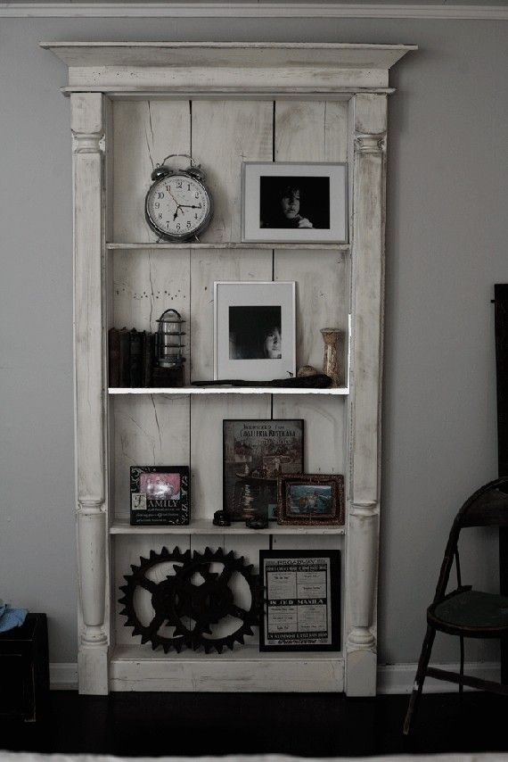 I could put a little paint on my bookshelf and make it look like this