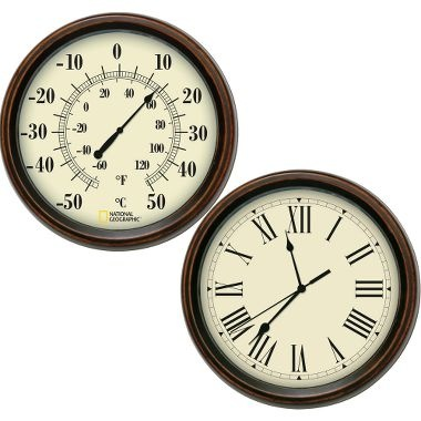 National Geographic Decorative Thermometer & Clock Set at Cabela's