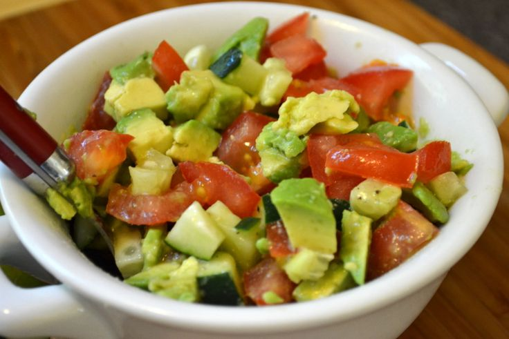... with Tomato, Cucumber & Avocado Salsa | The Realistic Nutritionist
