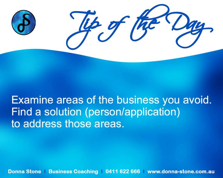 Donna Stone Business Coaching Tip of the Day