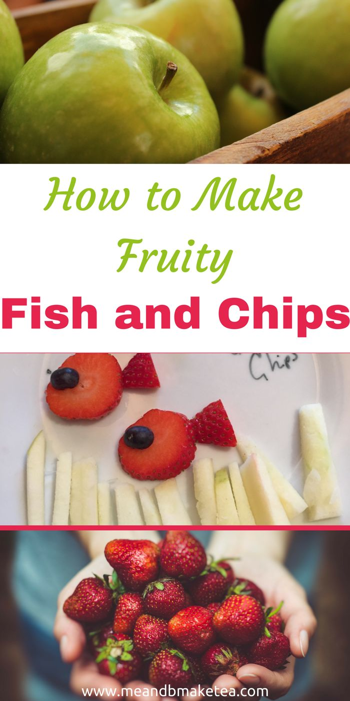 Making Fish and Chips Out of Fruit!And why not ey. So it turns out today is The Great British Fish and Chip Day. The aim is to raise awareness and money for the Spinal Injuries Association. When I was pregnant, I had a bad experience with fish. Since then