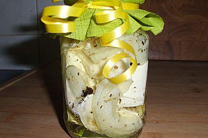 Eingelegter Knoblauch - Camembert
