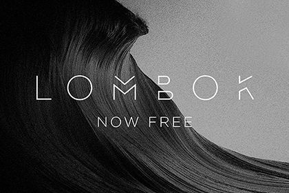 Designed by Alexandre Pietra. Lombok upholds a fresh face to the freebie font stage. The minimal design and mid-gapped letter …