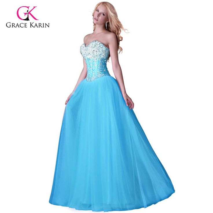 Long Evening Dresses Corset-style elegant Prom dinner Party Formal Gowns $75.47 => Save up to 60% and Free Shipping => Order Now! #fashion #woman #shop #diy http://www.weddress.net/product/2016-grace-karin-white-blue-pink-women-long-evening-dresses-corset-style-new-arrival-elegant-prom-dinner-party-formal-gowns-3519