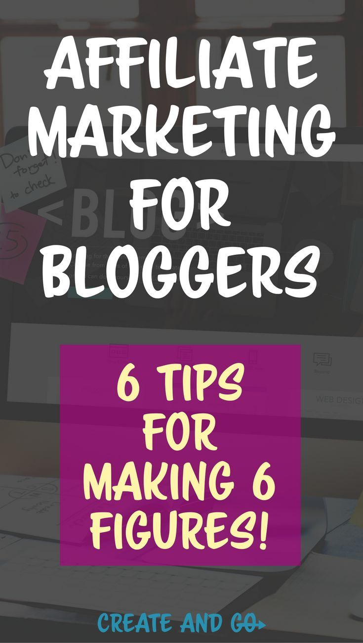 Learn how you can make money blogging through affiliate marketing for bloggers - We have made over six figures with our blogs using these strategies! #createandgo