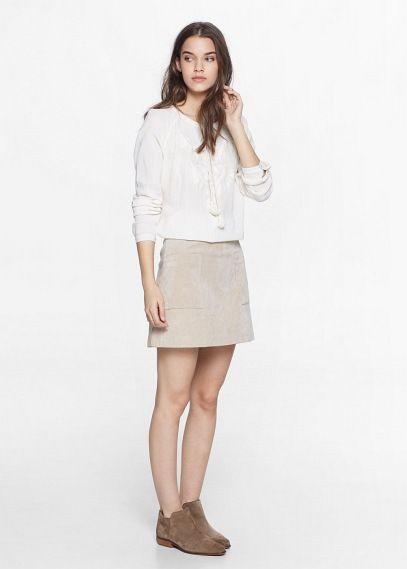Blusón étnico bordado - Camisas de Mujer | OUTLET