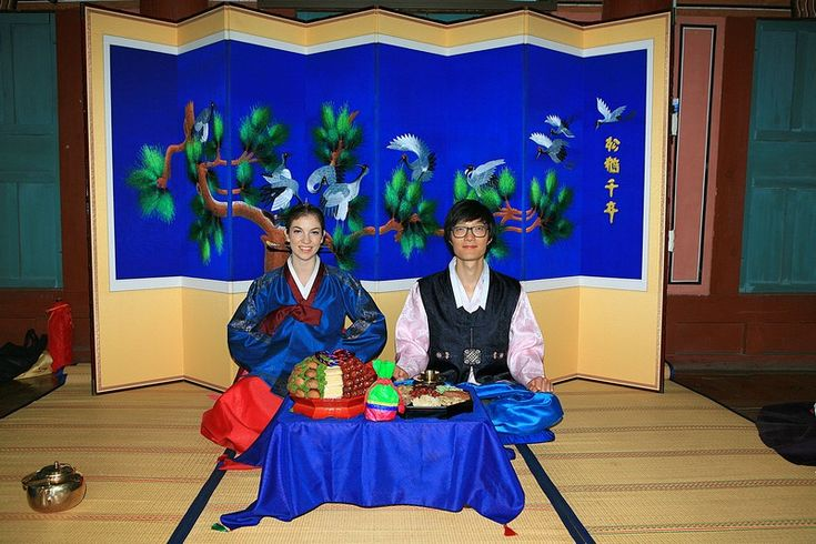 In the Korean traditional wedding ceremony, there is a post-ceremony after the vows and promises in front of guests. This ceremony is called a paebaek and is ONLY for immediate family members. There's drinking, hugging and even a piggyback ride!