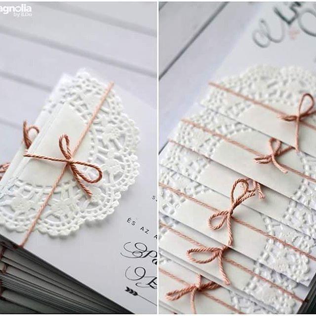 #magnoliabyildo #wedding #invitation #esküvő #meghívó #csipke #lace