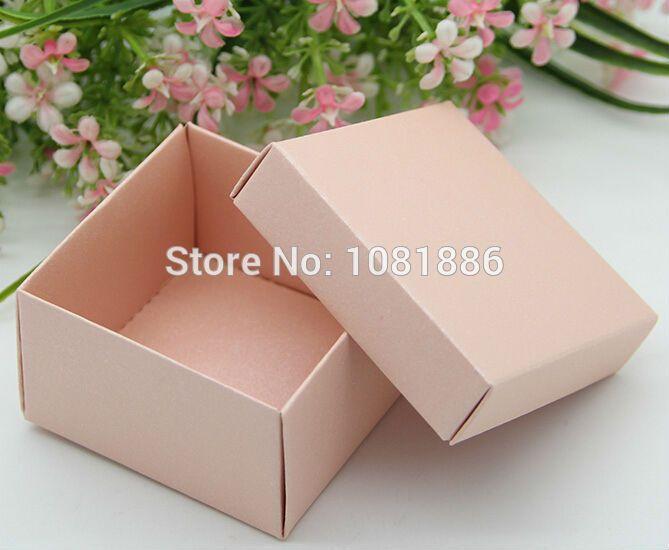 6.5 * 6.5 * 3.8 см жемчужно розовом свадебной и подарки box, Розовые подарочные коробкикупить в магазине Your Best GiftsнаAliExpress