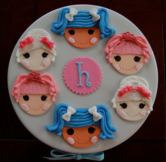 Items similar to Lalaloopsy Mittens, Jewel and Suzette Inspired Fondant Cupcake Toppers on Etsy