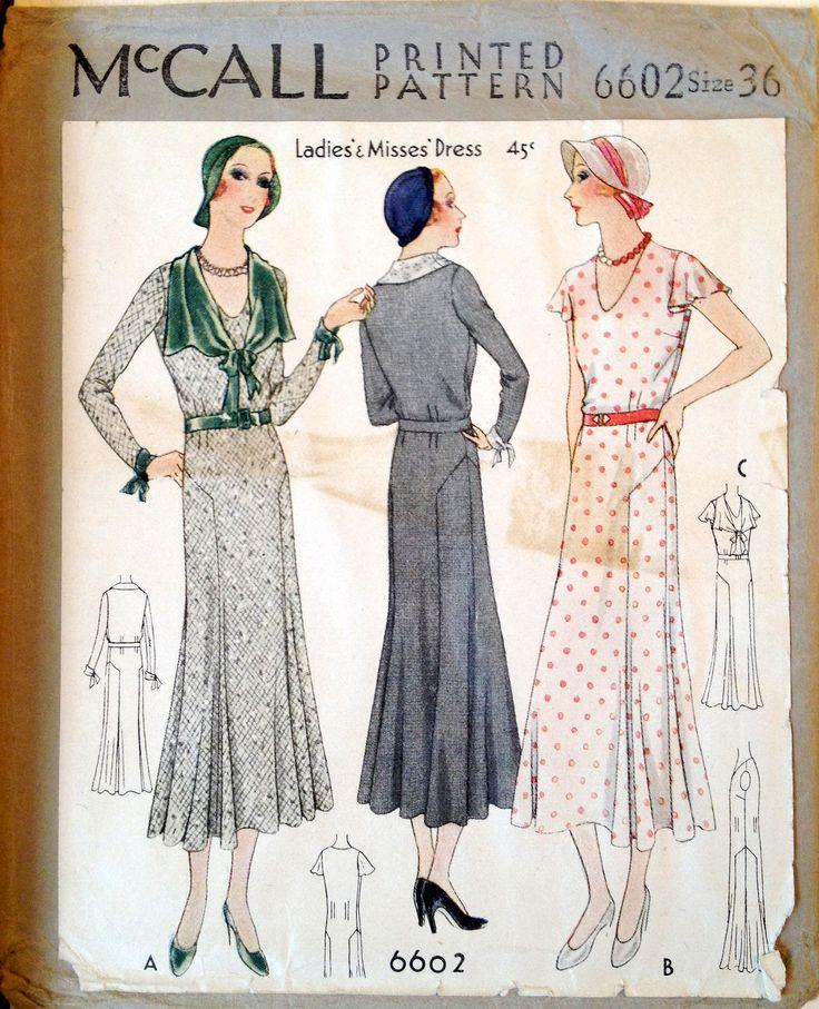mccall 6602 1931 mode annee folle pinterest ann es folles folles et annee. Black Bedroom Furniture Sets. Home Design Ideas