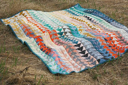 Geese Quilt by BlueElephantStitches, via Flickr