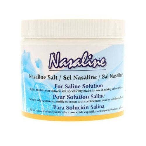 Nasaline Salt, 10.5 oz ( Multi-Pack) by Nasaline. $18.95. TRIPLE VALUE PACK! You are buying THREE of Nasaline Salt, 10.5 oz. Quantity: MULTI VALUE PACK! You are buying Description: NASALINE SALT Unit Size: 10.5 OZ Brand: NASALINE. TRIPLE VALUE PACK of Nasaline Salt, 10.5 oz - BLOWOUT ITEMS This pure non-iodized salt is for use with Nasaline or possibly a Neti Pot.