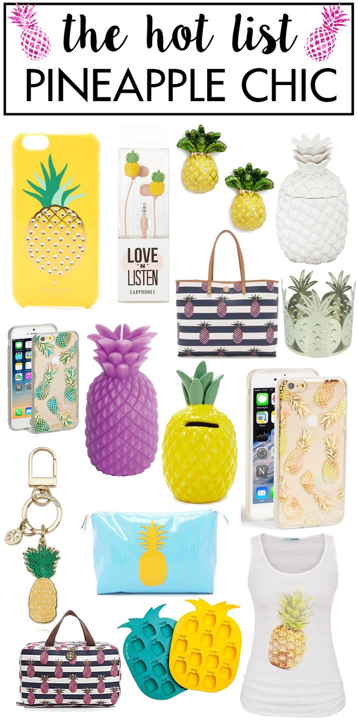 The Hot List | Pineapple Chic Get your pineapple on this Summer! Super on trend and SO fun!