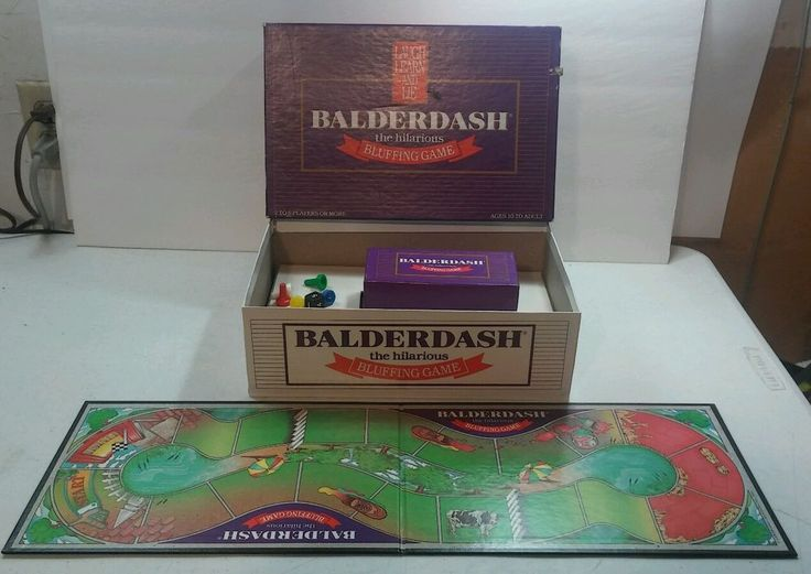 VINTAGE RETRO 1984 BALDERDASH BOARD GAME ABSOLUTELY AWESOME 100% COMPLETE & L/N #GAMEWORKS