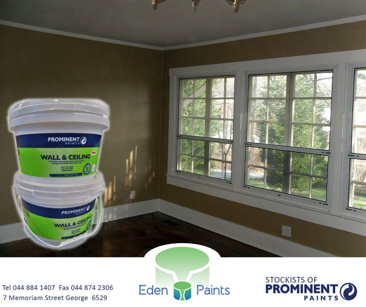 https://www.facebook.com/EdenPaintsCAW/photos/pb.1430826327161612.-2207520000.1425723192./1603365506574359/?type=1 The #Prominent Wall & Ceiling Premium Matt Acrylic has excellent coverage for interior and exterior use, is easy to clean, has low splatter and it is water based. Get it now at #EdenPaints. #paint